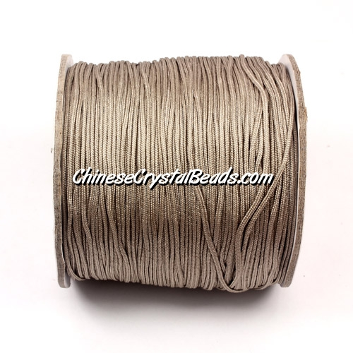 Nylon Thread 0.8mm, #139, silver, sold per 130 meter bobbin