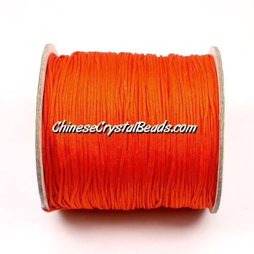 Nylon Thread 0.8mm, #142, Orange Red, sold per 130 meter bobbin