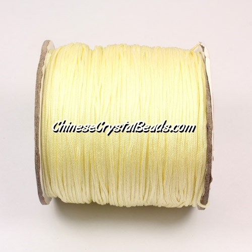 Nylon Thread 0.8mm, #143, light yellow, sold per 130 meter bobbin