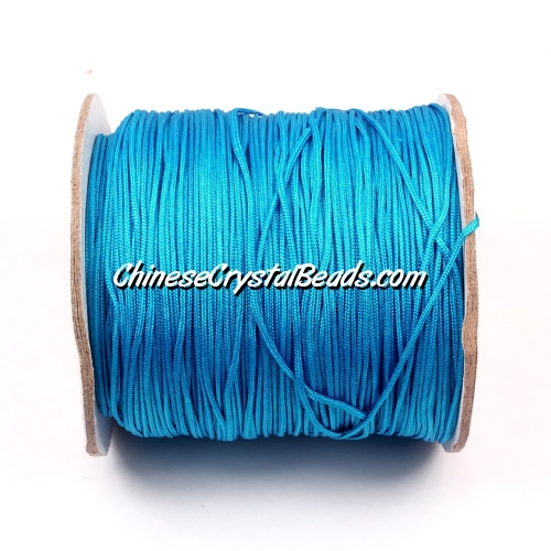 Nylon Thread 0.8mm, #148, capri blue, sold per 130 meter bobbin