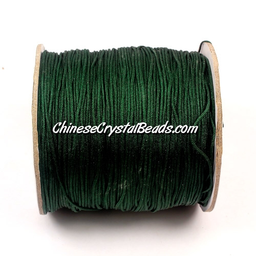 Nylon Thread 0.8mm, #157, emerald, sold per 130 meter bobbin