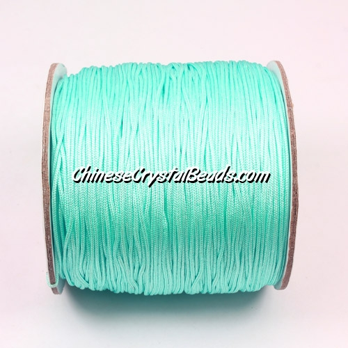 Nylon Thread 0.8mm, #163, aqua, sold per 130 meter bobbin