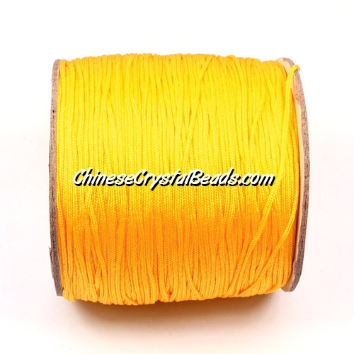 Nylon Thread 0.8mm, #167, yellow, sold per 130 meter bobbin