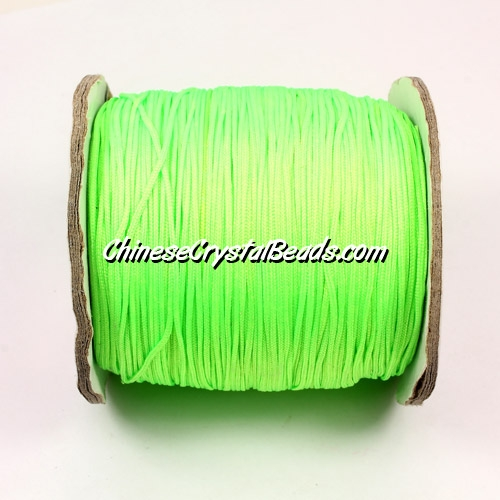 Nylon Thread 0.8mm, #172, green (neon color), sold per 130 meter bobbin