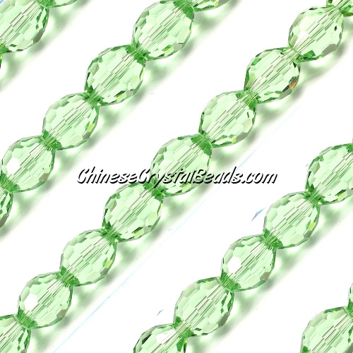 Chinese Crystal Faceted Barrel Strand, lime green,10x13mm, 20 beads