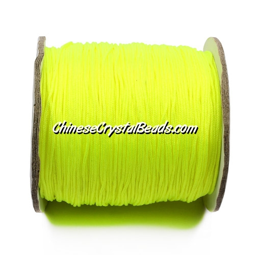 Nylon Thread 0.8mm, #137, yellow(neon color), sold per 130 meter bobbin