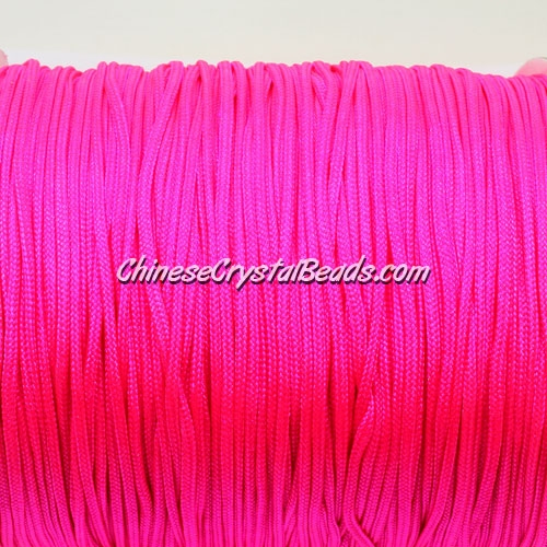 1.5mm nylon cord, fuchsia(neon color)(f106), Pave string unite, (Sold by the meter)