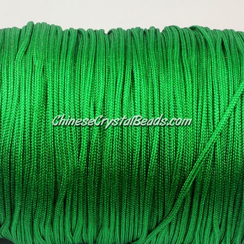 1.5mm nylon cord, fern green(233), Pave string unite, (Sold by the meter)