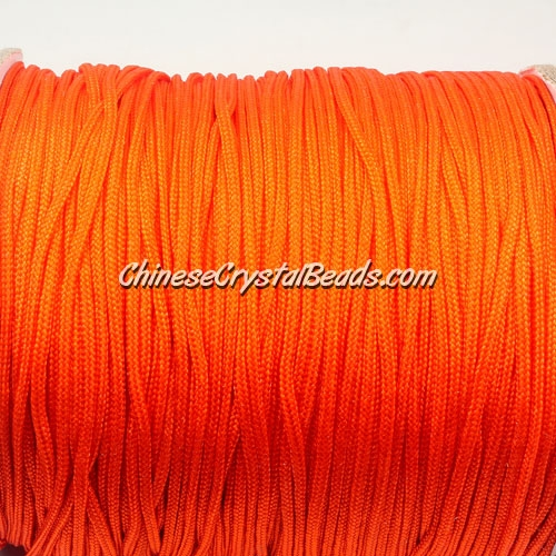 1.5mm nylon cord, orange, Pave string unite, (Sold by the meter)