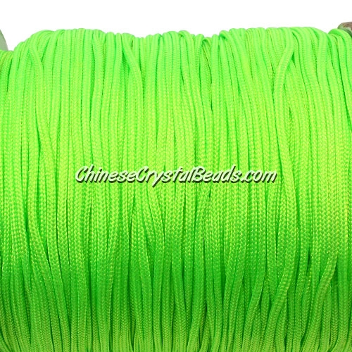 1.5mm nylon cord, apple green(neon color)(231), Pave string unite, (Sold by the meter)