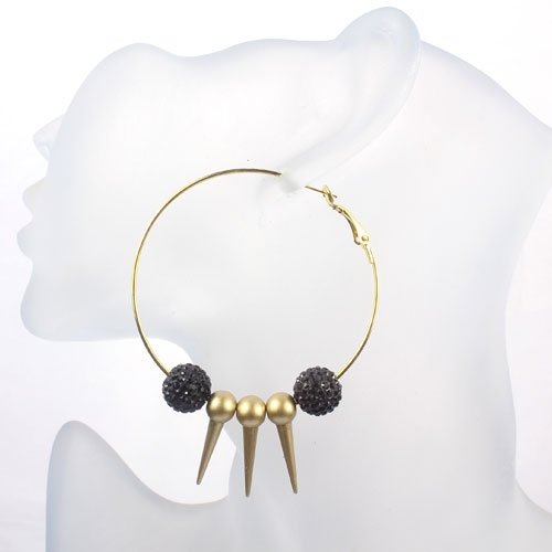 Basketball Wives Earrings 2.3' , gold, octopus, sold 1pair