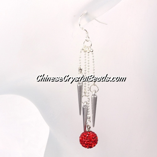 disco earring, Pave earring, #029