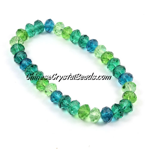 crystal beads bracelet, green idea