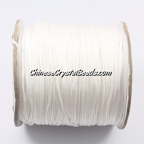 Nylon Thread 0.8mm, #169, white, sold per 130 meter bobbin