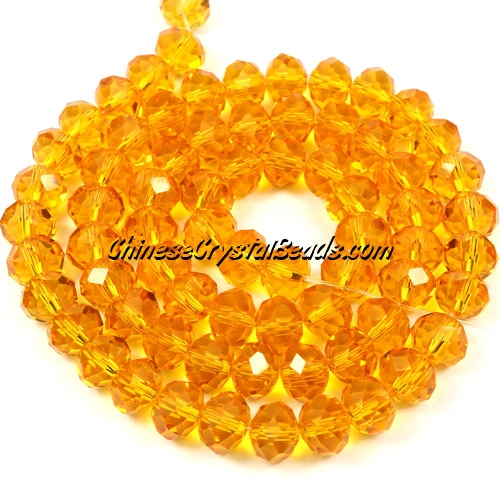 Chinese Crystal Rondelle Bead Strand, Sun, 6x8mm , about 72 beads