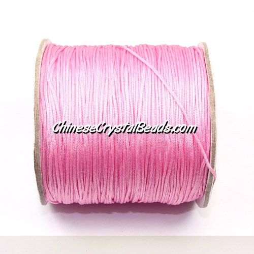 Nylon Thread 0.8mm, #145, pink, sold per 130 meter bobbin