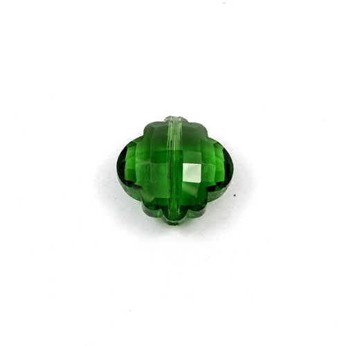 crystal lantern pendant, 10x18x18mm, green, sold 1pcs