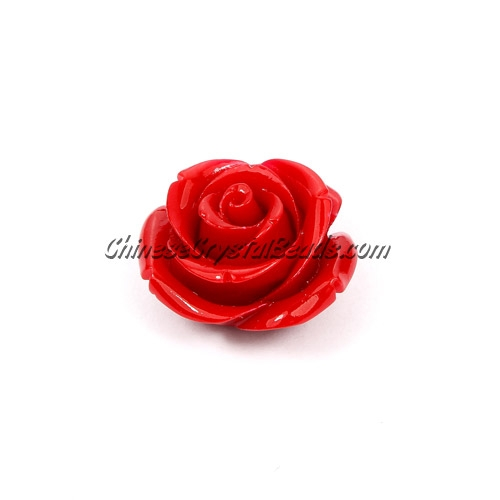 Composite Flower Beads, 25mm, red, hole about 1.5mm, sold 1 pcs