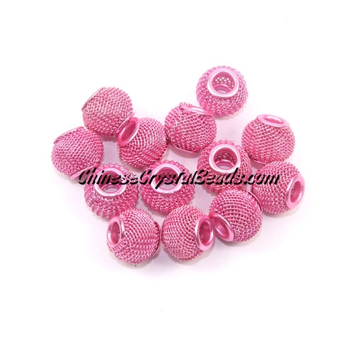 Black Mesh Bead, Basketball Wives, 12mm, 10 pieces