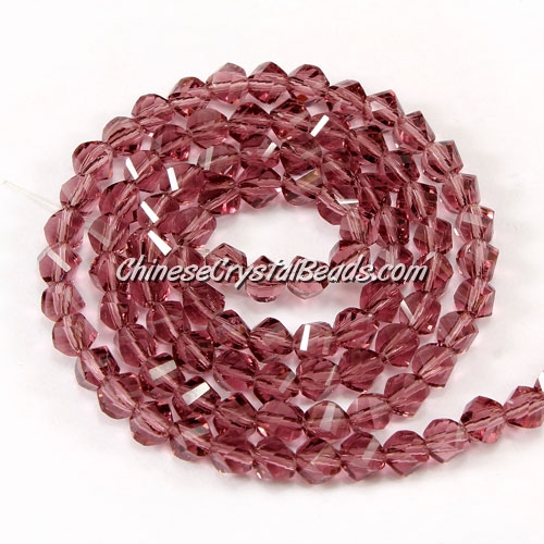 Crystal Helix Beads Strand, 4mm, amethyst, about 100 beads, 15 inch