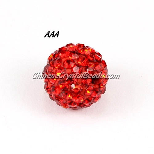 10Pcs AAA high quality Pave beads, Shining, red