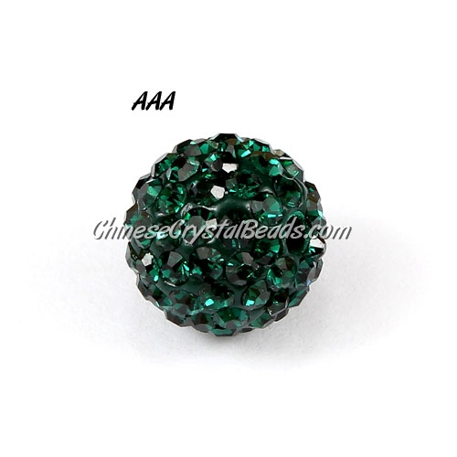 10Pcs 10mm AAA high quality Pave beads, Shining, Emerald