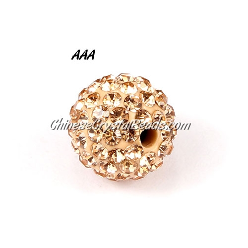 10Pcs 10mm AAA high quality Pave beads, Shining, Peach