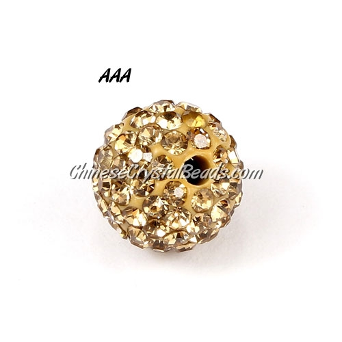 10Pcs 10MM AAA high quality Pave beads, Shining, Champagne