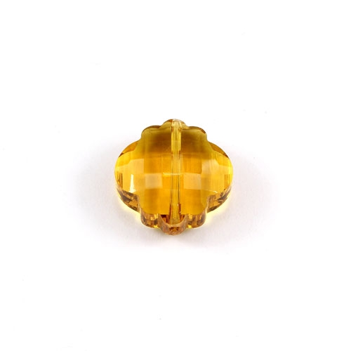 crystal lantern pendant, 10x18x18mm, amber, sold 1pcs