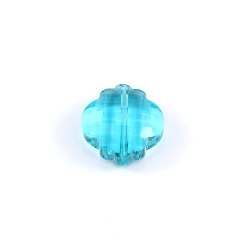crystal lantern pendant, 10x18x18mm, aqua, sold 1pcs