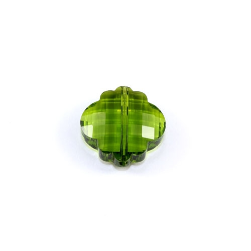 crystal lantern pendant, 10x18x18mm, olivine, sold 1pcs