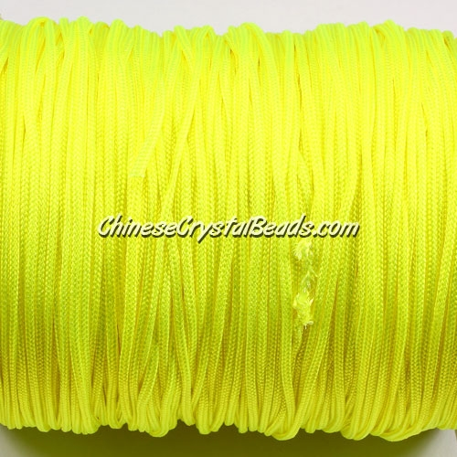1.5mm nylon cord, lemon yellow(neon color), Pave string unite, (Sold by the meter)
