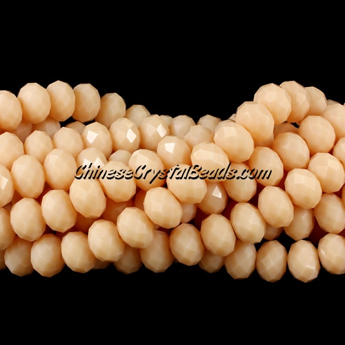 Chinese Crystal Bead Strand, opaque Khaki, 6x8mm, about 72 beads