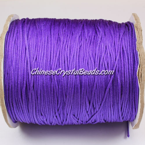 thick about 1mm, nylon string, Amethyst, (Sold by the meter)