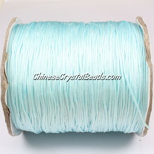 thick about 1mm, nylon string, aqua, (Sold by the meter)
