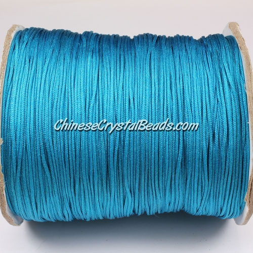thick about 1mm, nylon string, capri blue, (Sold by the meter)