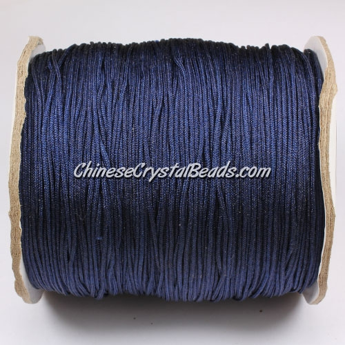 thick about 1mm, nylon string, dark blue, (Sold by the meter)
