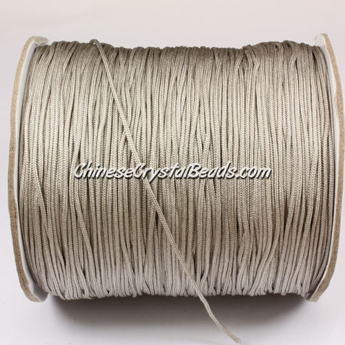 thick about 1mm, nylon string, gray, (Sold by the meter)
