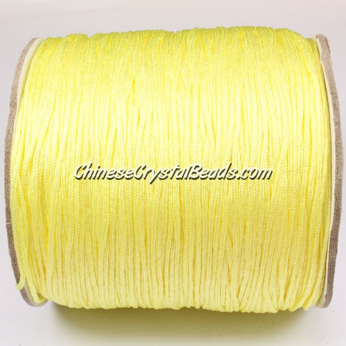 thick about 1mm, nylon string, light yellow, (Sold by the meter)