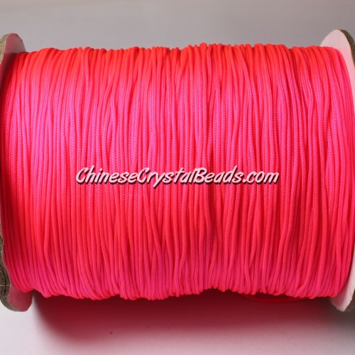 thick about 1mm, nylon string, (neon color)fuchsia, (Sold by the meter)