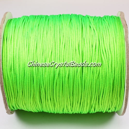 thick about 1mm, nylon string, (neon color) green, (Sold by the meter)