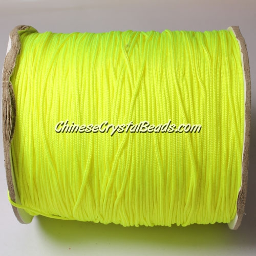 thick about 1mm, nylon string, (neon color) yellow, (Sold by the meter)