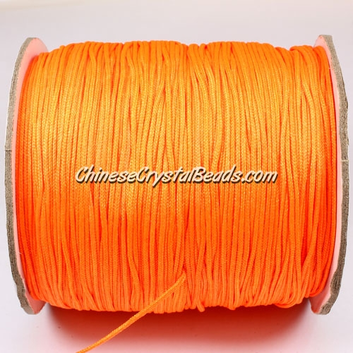thick about 1mm, nylon string, orange, (Sold by the meter)
