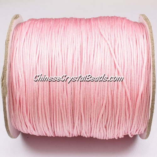 thick about 1mm, nylon string, pink, (Sold by the meter)