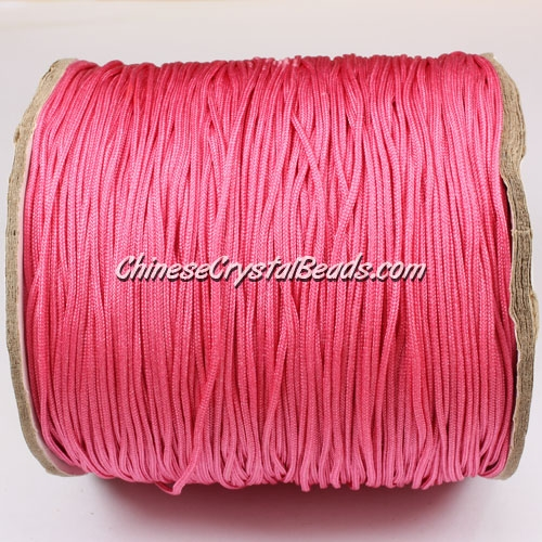 thick about 1mm, nylon string, rose, (Sold by the meter)