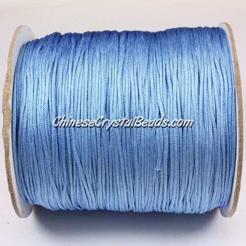 thick about 1mm, nylon string, sky blue, (Sold by the meter)