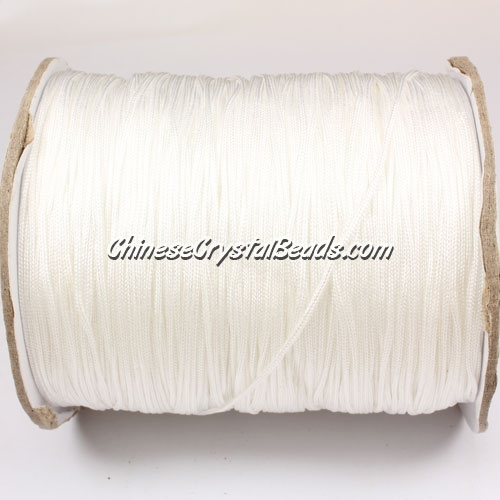 thick about 1mm, nylon string, white, (Sold by the meter)