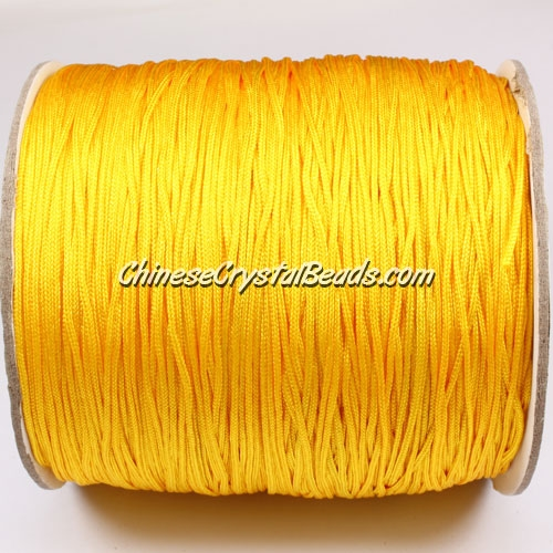 thick about 1mm, nylon string, yellow, (Sold by the meter)