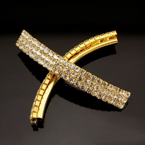 Pave diamond tube hand pendant, Bling Tube Bead, 6x42mm, 2mm hole, gold