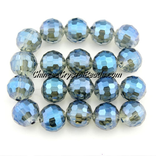 Chinese crystal 10mm round beads 96fa , Magic Blue, sold 20 Beads